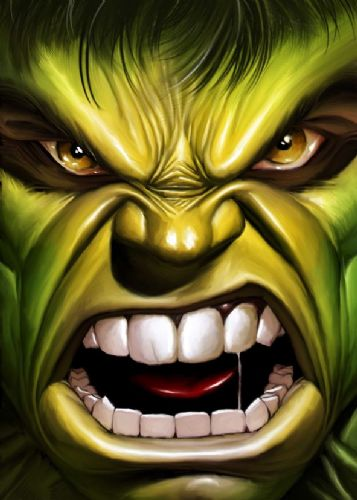THE HULK - CLOSE PORTRAIT canvas print - self adhesive poster - photo print